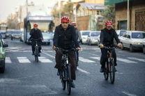 افتتاح خط مترو با دوچرخه