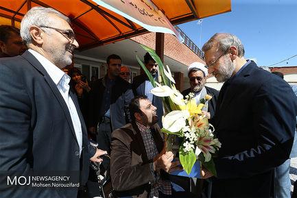 بازدید علی لاریجانی از موسسه خیریه رعد فاطمیه قم