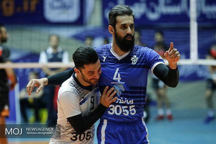 دیدار تیم های والیبال بانک سرمایه و پیکان تهران