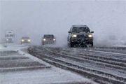 بارش برف در محور کرج - کندوان