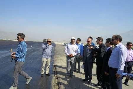 بهرهبرداری از پروژه تطویل باند فرودگاه یاسوج تا پایان مهرماه
