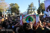 پیکر ۲ شهید حادثه تروریستی زاهدان در شهرضا تشییع شد