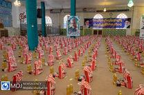توزیع 1800 بسته موادغذایی بین نیازمندان درشهرستان نائین