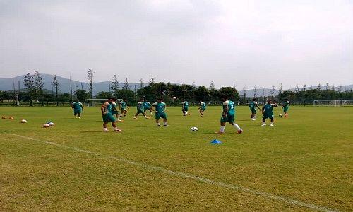 اولین تمرین تیم ملی فوتبال امید در چین برگزار شد