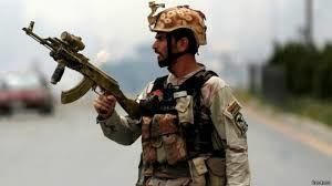 نظامی ارتش افغانستان نیروهای خارجی را به رگبار بست