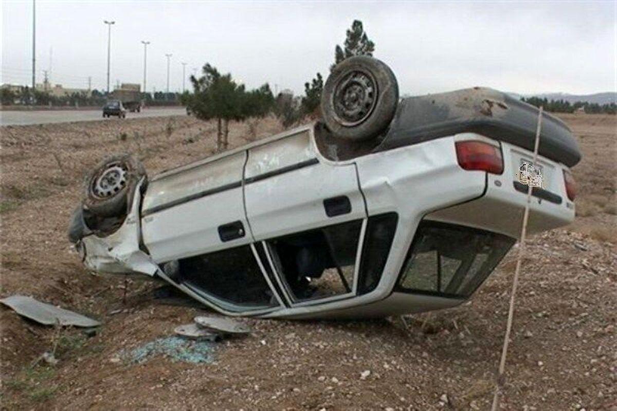 5 مصدوم در واژگونی یک خودروی سواری پراید در شهرضا