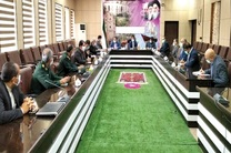 برگزاری جلسه هماهنگی احداث سومین مدرسه بانک سینا در شهرستان دشتی استان بوشهر
