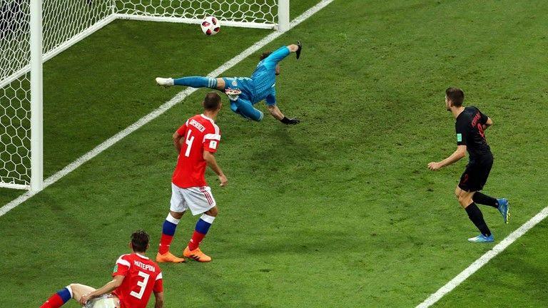 تساوی کرواسی و روسیه در نیمه نخست