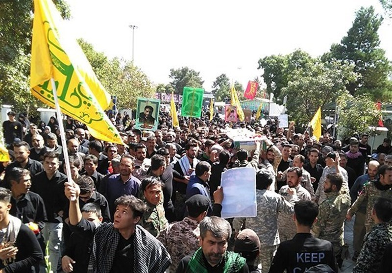 پیکر 3 شهید مدافع حرم لشکر فاطمیون در تهران تشییع شد