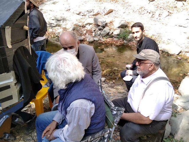 بازدید سردار رستگارپناه از پشت صحنه سریال جشن سربرون