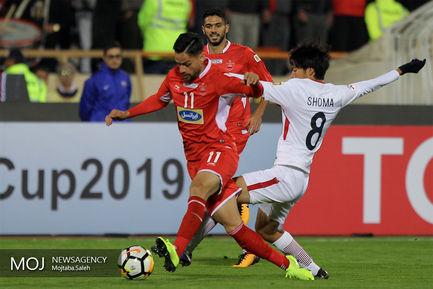 دیدار تیم های فوتبال پرسپولیس ایران و  کاشیما آنتلرز ژاپن
