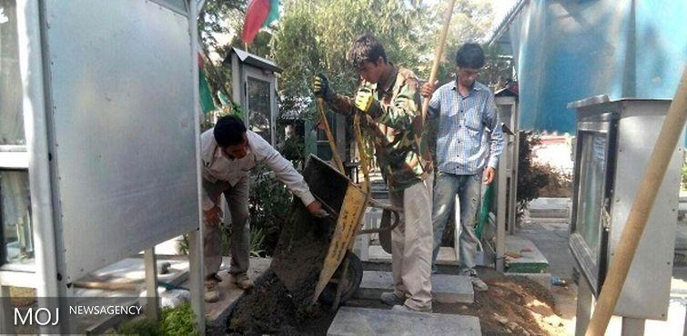 ساماندهی بیش از ۱۳ هزار گلزار شهدا تا پایان خرداد ۹۵