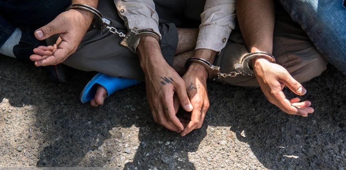 تعدادی ارازل و اوباش نوپدید حین درگیری با سلاح سرد دستگیر شدند