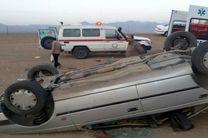 هشت مصدوم در دو حادثه واژگونی خودرو سمند و 206
