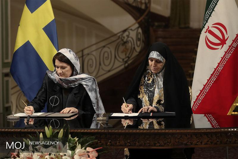 توضیح وزیر سوئدی درباره حجابش در تهران