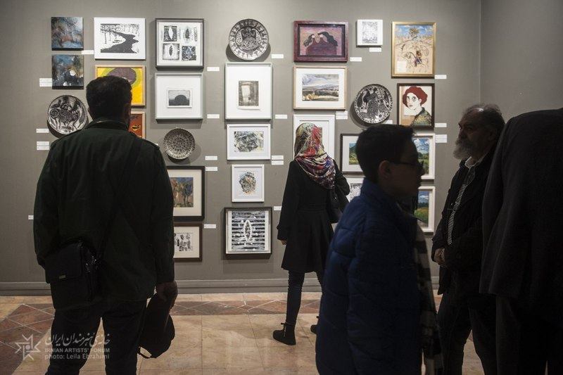 افتتاح نمایشگاه فرصت در خانه هنرمندان ایران