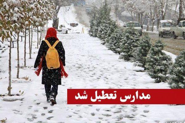 تعطیلی مدارس مازندران در پی بارش برف