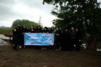 پاکسازی تالاب سوستان لاهیجان توسط دانش آموزان دبیرستان دوره دوم دختران سما رشت