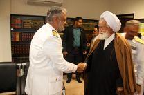 دیدار فرمانده و کارکنان ناوگروه پاکستانی با نماینده ولی فقیه هرمزگان