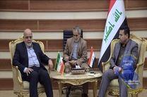 ایرج مسجدی با وزیر کشور عراق دیدار کرد