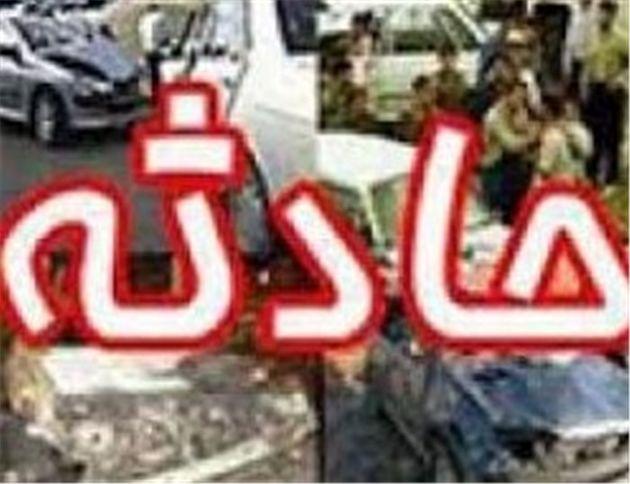 واژگونی تانکر حامل سوخت در اتوبان فرودگاه اصفهان