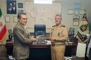 دیدار مدیرعامل بانک ملت با فرمانده کل نیروی دریایی ارتش