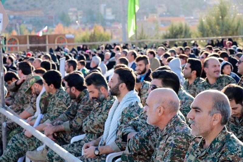 تجمع ۲ هزار نفری بسیجیان منطقه شمال غرب شیراز برگزار شد