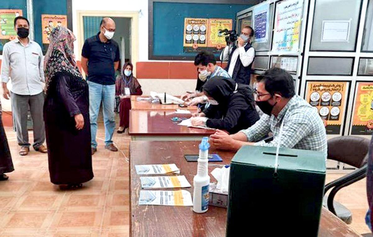 رعایت دستورالعملهای بهداشتی در شعبات اخذ رأی قبل از برگزاری انتخابات