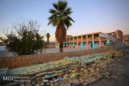 تخریب مدرسه در سرپل ذهاب پس از زلزله