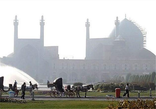 کیفیت هوای اصفهان در شرایط ناسالم برای گروه های حساس قرار گرفت