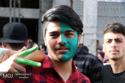 شادی مردم پس از انتخابات استانها