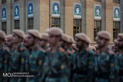 صبحگاه مشترک دانشجویان دانشگاه افسری نیروهای مسلح
