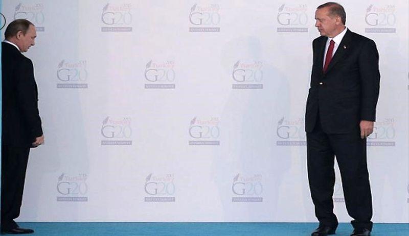 پوتین و اردوغان در خصوص حل بحران سوریه با یکدیگر گفت و گو می کنند