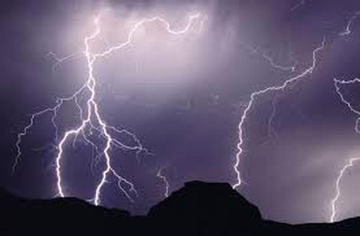 وقوع رگبار باران و رعد و برق در ارتفاعات هرمزگان