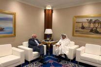 ظریف با وزیر خارجه قطر در دوحه دیدار کرد