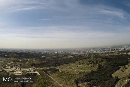 گشت هوایی جمعیت هلال احمر در روز طبیعت