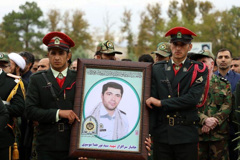 پیکر شهید سید نورخدا موسوی تشییع شد