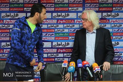 کنفرانس مطبوعاتی وینفرید شفر سرمربی تیم استقلال تهران