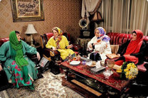 ضبط برنامه شام ایرانی در خانه نگین معتضدی و آشا محرابی