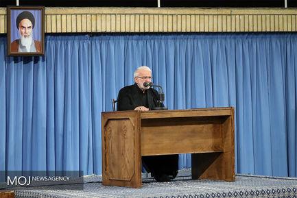 دومین روز مراسم سوگواری امام علی (ع) با حضور مقام معظم رهبری