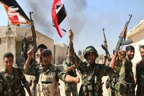 عقب راندن عناصر داعش توسط ارتش سوریه