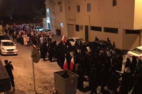 تظاهرات مردم بحرین علیه رژیم آلخلیفه
