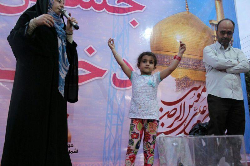 جشن میلاد حضرت معصومه(س) و روز دختر در بوستان بهار رشت+تصاویر