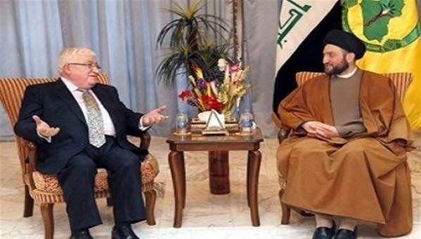 دیدار عمار حکیم با رئیسجمهور عراق برای بررسی مقدمات برگزاری انتخابات