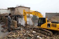 تخریب ملک خطرساز با حکم قضایی در منطقه 10