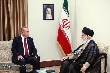 دیدار رؤسای جمهور ترکیه و روسیه با مقام معظم رهبری