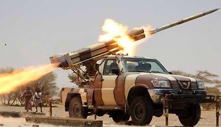 تسلیحات وهابیون سعودی به آتش کشیده شد