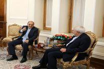 دیدار ظریف با رئیس جمهور قبرس