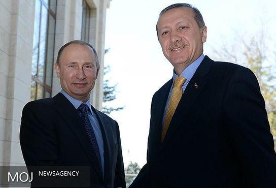 اردوغان پیام تبریک برای پوتین ارسال کرد