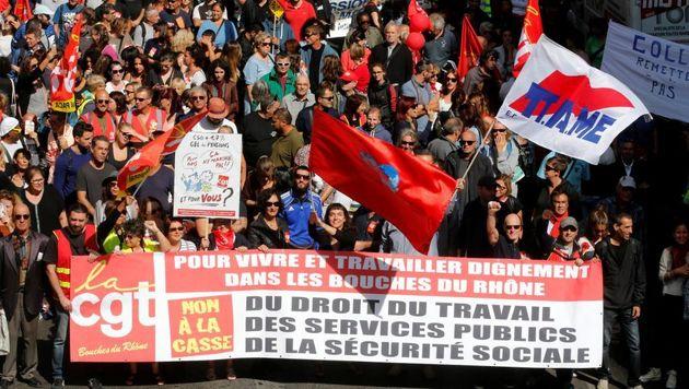 تداوم اعتراضات کارگری به اصلاحیه قانون کار در فرانسه